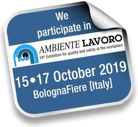 Teilnahmebestätigung für SafeStart an der Ambiente Lavoro 2019 in Bologna vom 15. bis 17. Oktober
